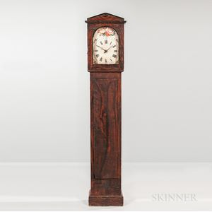 Grain-painted Tall Case Clock