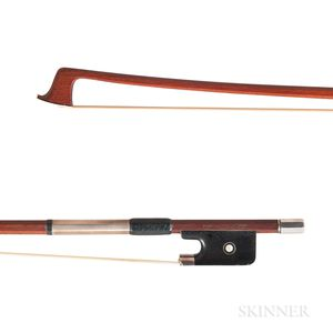 French Silver-mounted Viola Bow, Marcel Lapierre