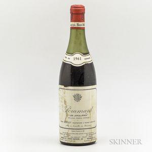 Henri Boillot Pommard Les Jarollieres 1961, 1 bottle