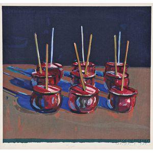 Wayne Thiebaud (American, b. 1920)      Candy Apples