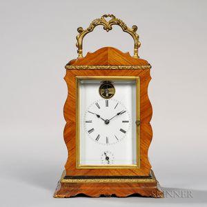 Veneered Time, Strike, and Alarm Carriage Clock