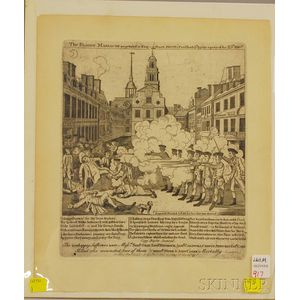 Broadside The Bloody Massacre Perpetrated in King Street, Boston, on March 5th,   1770.