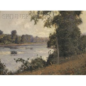 William Jurian Kaula  (American, 1871-1953)      The River Bank