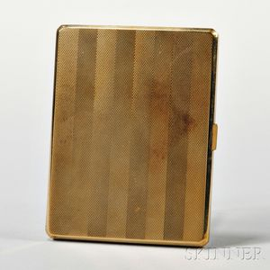 English 9kt Gold Cigarette Case