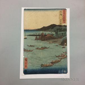 Utagawa Hiroshige (1797-1858), Goshiki Beach, Awaji Province