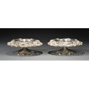 Pair of Graff, Washbourne & Dunn Sterling Footed Fruit Bowls