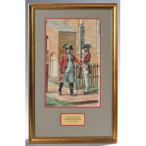 Framed Original Don Troiani Watercolor of Cornwallis at Yorktown