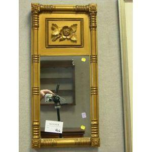 Federal Giltwood Split Baluster Mirror.
