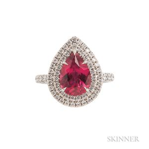 "Platinum, Rubellite, and Diamond ""Soleste"" Ring, Tiffany & Co."