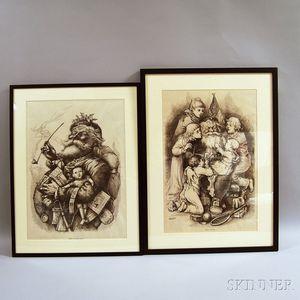 Pair of Framed Thomas Nast for Harper