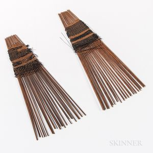 Two Tongan Hair Combs, Helu