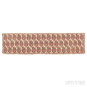 Kashmir Shawl Shoulder Mantle End Panel