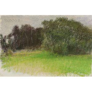 Wolf Kahn (German/American, b. 1927)      Moody American Landscape