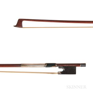 English Silver-mounted Violin Bow, W.E. Hill & Sons