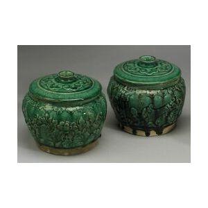 Pair of Covered Jars