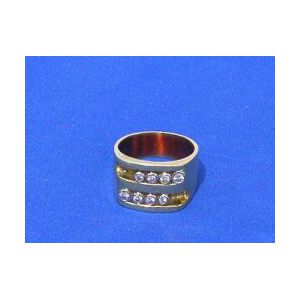 Men's 14kt Gold and Diamond Ring