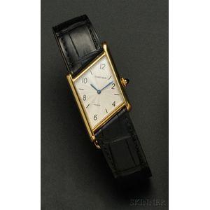 """18kt Gold """"Tank Asymetrique"""" Wristwatch, Cartier, Paris"""