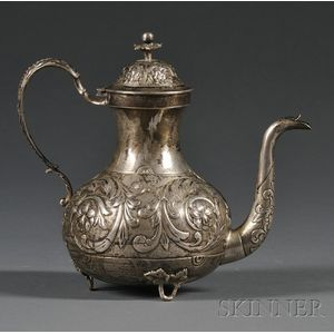 Dutch .833 Silver Coffeepot