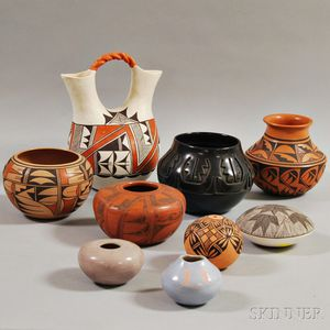 Nine Southwest Pottery Items