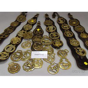 Large Group of Mostly European Brass Saddle Emblems