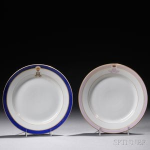 Two Russian Imperial Porcelain Factory Plates