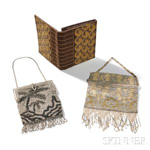 Newey of England and Two Other Art Deco Beaded Bags
