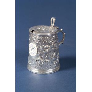 Tiffany & Co. Sterling Repousse Mustard Pot