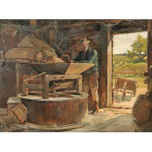 Henry Sandham (Canadian, 1842-1912)      The Village Mill