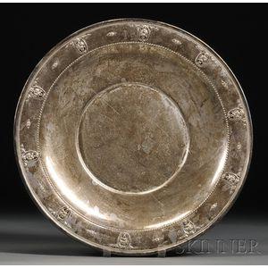 "Large Wallace Sterling ""Rosepoint"" Pattern Platter"
