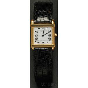 "18kt Gold ""Tank Chinoise"" Wristwatch, Cartier, Paris"