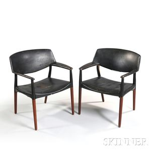 Two Aksel Bender-Madsen and Ejner Larsen Armchairs