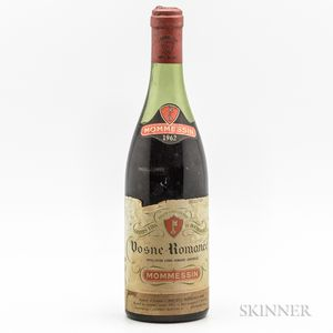Mommessin Vosne Romanee 1962, 1 bottle