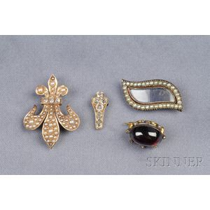 Group of Antique Jewelry Items
