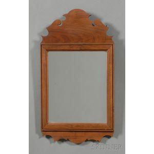 Queen Anne-style Walnut Mirror