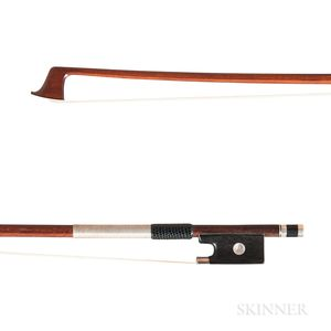 English Silver-mounted Violin Bow, John Kew Dodd