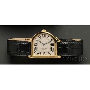 """18kt Gold """"Cloche"""" Wristwatch, Cartier"""