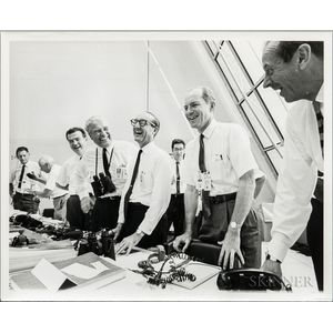Apollo 11, Mission Control and NASA Scientists, Four Photographs.