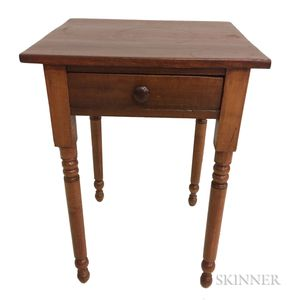 Country Maple and Pine One-drawer Stand Country Maple and Pine One-drawer Stand