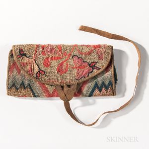 Floral Flame-stitch Wallet
