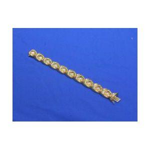 14kt Gold Stylized Link Bracelet.