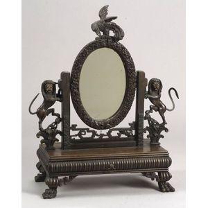 Carved Teak Dressing Mirror