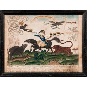 After Amos Doolittle (Connecticut, 1754-1832)      Bonaparte in Trouble