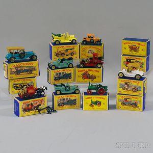Thirteen Matchbox Toys Models of Yesteryear Vehicles