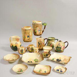 Eighteen Royal Doulton Molded Ceramic Series Items