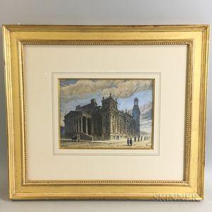 Hughson Hawley (American, 1850-1936) Watercolor Early Morning