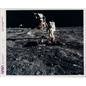 Apollo 11, Buzz Aldrin Deploys Passive Seismic Experiments Package on the Moon, July 10, 1969.