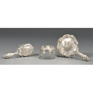 Gorham Sterling Three-piece Dresser Set