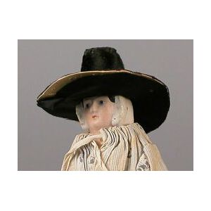 Papier-mache Lady in Welsh Hat and Attire