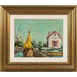 Boris Mardesic (Croatian, 20th Century)    Landscape with House