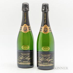 Pol Roger Brut Extra Cuvee Reserve 2002, 2 bottles